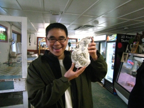 T.J. with big oyster